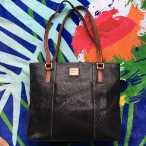 Authentic Dooney & Bourke Leather Sachel Bag